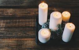 Κεριά στο δωμάτιο Στοκ Εικόνες