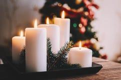 Κεριά στο δωμάτιο Στοκ Φωτογραφία