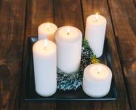 Κεριά στο δωμάτιο Στοκ εικόνες με δικαίωμα ελεύθερης χρήσης