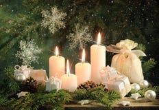 κεριά τέσσερα Στοκ Εικόνες