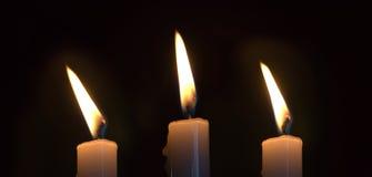 κεριά τρία Στοκ Εικόνα
