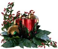 Κεριά & φύλλωμα Χριστουγέννων στοκ εικόνες