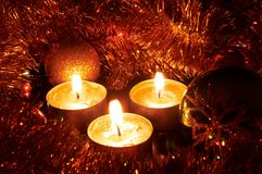 Κεριά Χριστουγέννων στοκ φωτογραφία με δικαίωμα ελεύθερης χρήσης