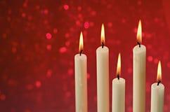 Κεριά Χριστουγέννων Στοκ εικόνα με δικαίωμα ελεύθερης χρήσης
