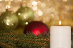 Κεριά Χριστουγέννων Στοκ εικόνες με δικαίωμα ελεύθερης χρήσης