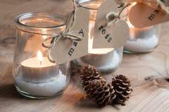 Κεριά Χριστουγέννων Eco Στοκ Εικόνα