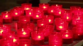 κεριά απόθεμα βίντεο