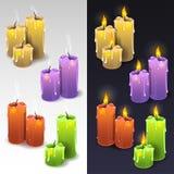 κεριά διανυσματική απεικόνιση