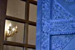 Κεριά LIT υπό μορφή κεριών Στοκ φωτογραφία με δικαίωμα ελεύθερης χρήσης