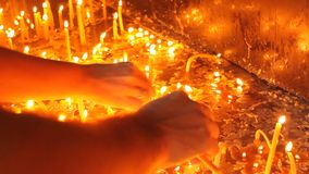 Κεριά LIT απόθεμα βίντεο