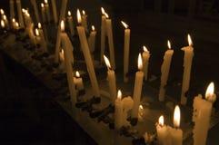 κεριά votive Στοκ Εικόνες