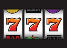 Κερδίζοντας μηχάνημα τυχερών παιχνιδιών με κέρματα Στοκ φωτογραφία με δικαίωμα ελεύθερης χρήσης