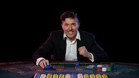 Κερδίζοντας σε απευθείας σύνδεση φορέας πόκερ στον πίνακα στη χαρτοπαικτική λέσχη κλείστε επάνω απόθεμα βίντεο