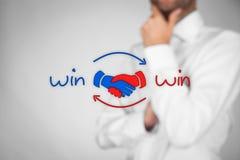 Κερδίστε κερδίζει τη στρατηγική Στοκ Φωτογραφίες