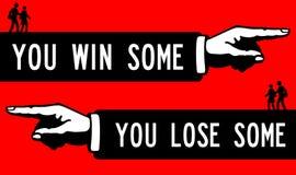 Κερδίστε μερικών χάνει μερικών Στοκ φωτογραφία με δικαίωμα ελεύθερης χρήσης