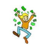 κερδίστε τα χρήματα Στοκ φωτογραφίες με δικαίωμα ελεύθερης χρήσης