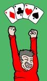 Κερδίστε το πόκερ Στοκ Εικόνα