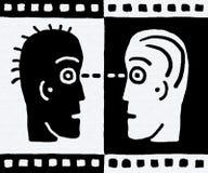 κεφάλια δύο διάνυσμα Στοκ εικόνες με δικαίωμα ελεύθερης χρήσης