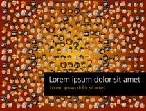 Κεφάλια κινούμενων σχεδίων Στοκ Εικόνες