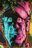 κεφάλι γκράφιτι Στοκ φωτογραφία με δικαίωμα ελεύθερης χρήσης