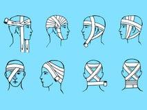 κεφάλι επιδέσμων Στοκ εικόνες με δικαίωμα ελεύθερης χρήσης