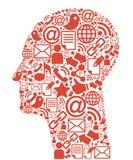 κεφάλι επικοινωνίας Στοκ φωτογραφία με δικαίωμα ελεύθερης χρήσης