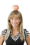 κεφάλι μήλων το κόκκινό μο&upsil Στοκ Φωτογραφίες