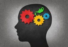 Κεφάλι με τα εργαλεία μέσα απεικόνιση αποθεμάτων