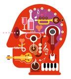 Κεφάλι μουσικής ελεύθερη απεικόνιση δικαιώματος