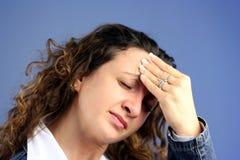 κεφάλι πόνου Στοκ Εικόνα