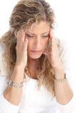 κεφάλι πόνου Στοκ Φωτογραφίες