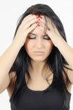 κεφάλι πόνου Στοκ εικόνα με δικαίωμα ελεύθερης χρήσης