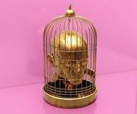 Κεφάλι στο κλουβί Στοκ φωτογραφία με δικαίωμα ελεύθερης χρήσης