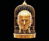 Κεφάλι στο κλουβί Στοκ Φωτογραφία