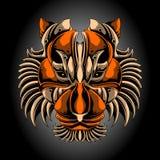 Κεφάλι τιγρών σιδήρου διανυσματική απεικόνιση