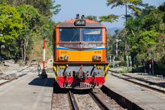 Κεφάλι τραίνων, σιδηρόδρομος τραίνων εναλλακτικά για το ταξίδι Στοκ Φωτογραφία