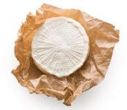 Κεφάλι τυριών αιγών που απομονώνεται στο άσπρο υπόβαθρο Στοκ Εικόνες