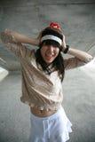 κεφάλι χεριών κοριτσιών Στοκ εικόνες με δικαίωμα ελεύθερης χρήσης