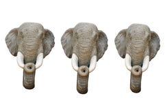 κεφάλι sculptrue τρία ελεφάντων Στοκ Εικόνες