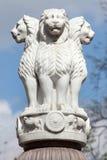 Κεφάλαιο λιονταριών των στυλοβατών Ashoka από Sarnath στοκ φωτογραφία με δικαίωμα ελεύθερης χρήσης