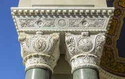 Κεφάλαιο μιας στήλης του ναού Στοκ Φωτογραφία