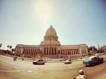 Κεφάλαιο που χτίζει την παλαιά Αβάνα Κούβα Στοκ Εικόνες