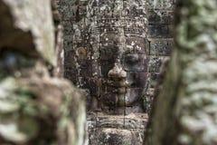 Κεφάλια του Βούδα στο ναό Bayon, Angkor Wat, Καμπότζη Στοκ εικόνες με δικαίωμα ελεύθερης χρήσης