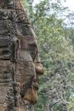 Κεφάλια του Βούδα στο ναό Bayon, Angkor Wat, Καμπότζη Στοκ Εικόνα