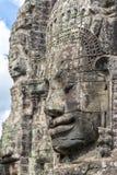Κεφάλια του Βούδα στο ναό Bayon, Angkor Wat, Καμπότζη Στοκ εικόνα με δικαίωμα ελεύθερης χρήσης