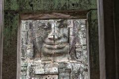 Κεφάλια του Βούδα στο ναό Bayon, Angkor Wat, Καμπότζη Στοκ Φωτογραφίες