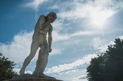 Κεφάλι εκμετάλλευσης αγαλμάτων υπό εξέταση Στοκ Εικόνες