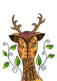 Κεφάλι ελαφιών στο διακοσμητικό ύφος Στοκ Εικόνες