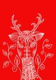 Κεφάλι ελαφιών στο διακοσμητικό ύφος Στοκ φωτογραφίες με δικαίωμα ελεύθερης χρήσης