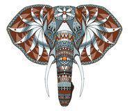 Κεφάλι ελεφάντων zentangle τυποποιημένο, διανυσματικός, απεικόνιση, ελεύθερη Στοκ εικόνες με δικαίωμα ελεύθερης χρήσης